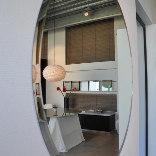 Ronde spiegel met facet