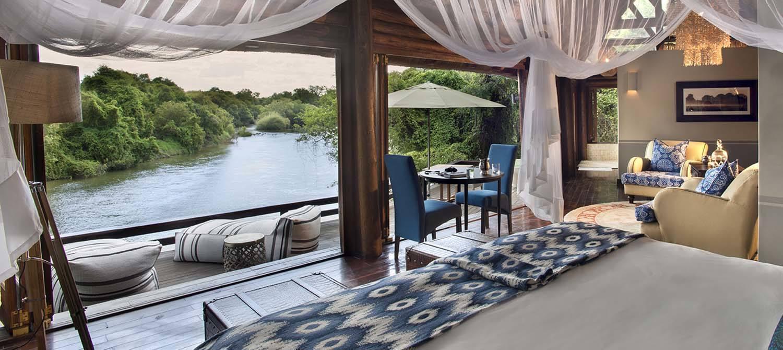 Royal Chundu Island Lodge suite