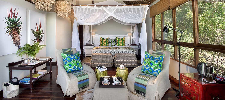 Royal Chundu River Lodge suite