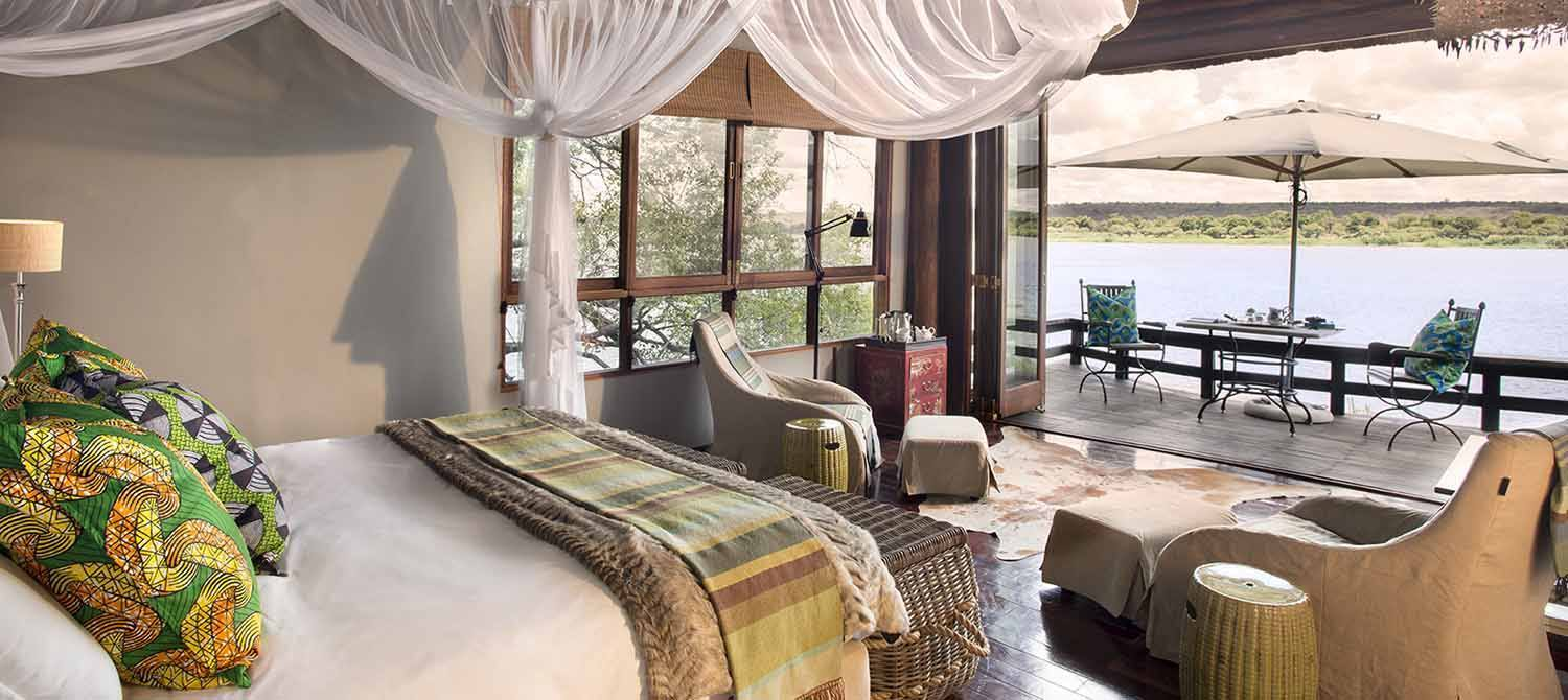 Royal Chundu River Lodge suite