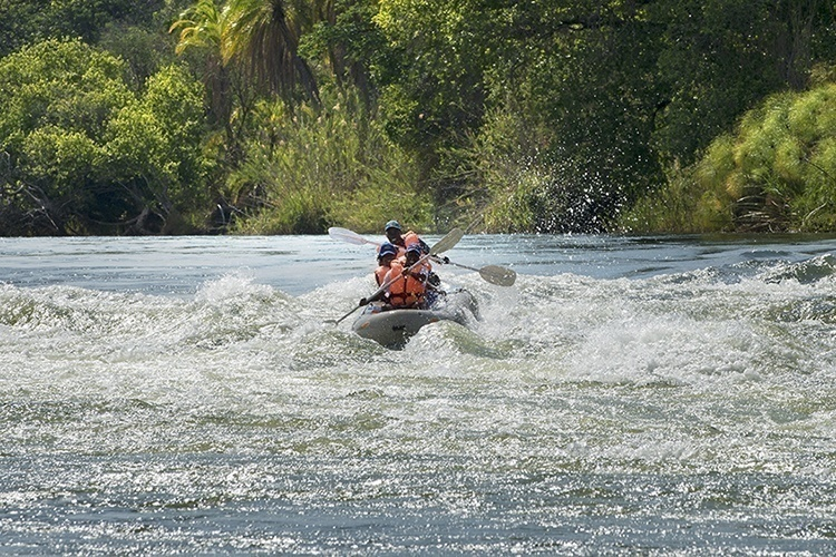 Canoeing on the Zambezi