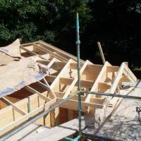Roof being erected at the school