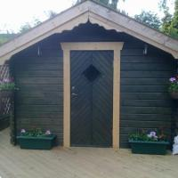 A fully insulated, heated cabin and with decking surround. An ideal place for the kids to go!
