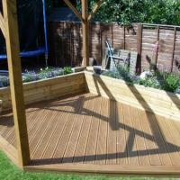 Garden renovation with decking and pergola