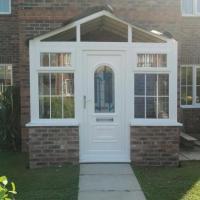 Porch with door