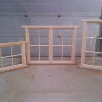 Softwood windows with Oak sills