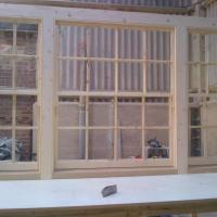 Box Sash window with Oak sill