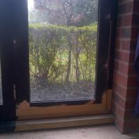 repairs to rotten door and sill