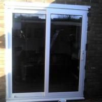 Opening fitted with patio doors.