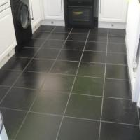 finished floor in tiles