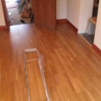 with new real wood flooring & skirting