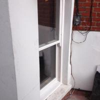 Double glazed timber box frame to match existing.