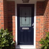 New composite door fitted blue external...