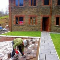 Under construction landscaping, 