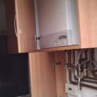 units modified and used to box in boiler and pipework