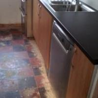Shame about the floor but in was not in the work schedule