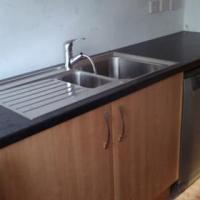 """""""Franke """" inset sink s/steel sink fitted to new 40 mm worktop"""