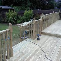 Images 7-9 examples of a large decking area I installed August 2011 in Aldridge