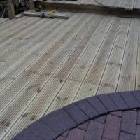 Customer requested finished level of decking to be flush with the existing blockpaving so I did !