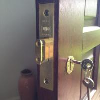 5 lever mortice fitted on wooden door