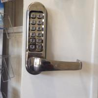 Digi lock fitted to internal office door