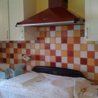This is a kitchen I tiled after the 