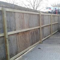 Re-posted a large fence enclosure