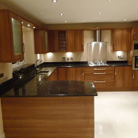 Dark walnut fitted kitchen