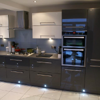 Grey acrylic kitchen