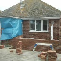 brickwork up ready for roof