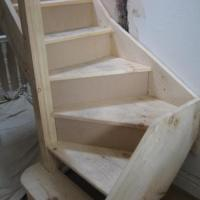 First turn in loft conversion stairs