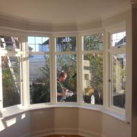 inside finish of bay window