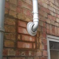 White plume kit to comply with gas safe regulations
