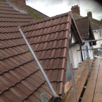 New roof with dry ridge and gables