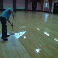 Community center in Bedford, maple floor.