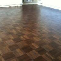 Five finger mahogany parquet floor.