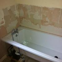 installed bath ready for tiling