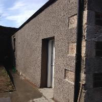 After: lime based render with spa chip at 12 high street Dunbar