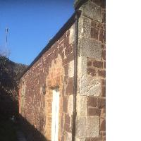 Before: damaged church wall beyond repair. 12 High street Dunbar