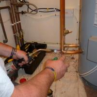fitting new hot water cylinder