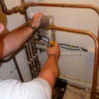 renewing three point valve on heating system