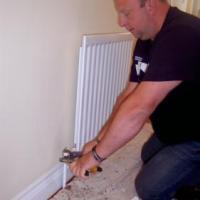 fitting new radiator