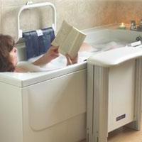 With easily operated hand control, it will lower you into your own bath 2 year gaurantee.