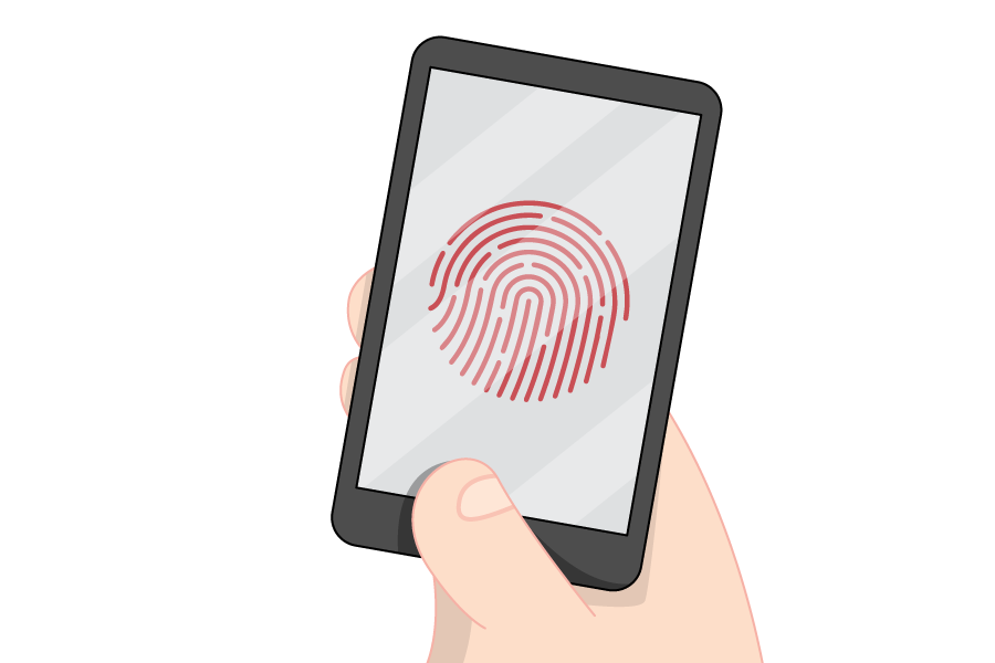 mobile device with fingerprint scanner