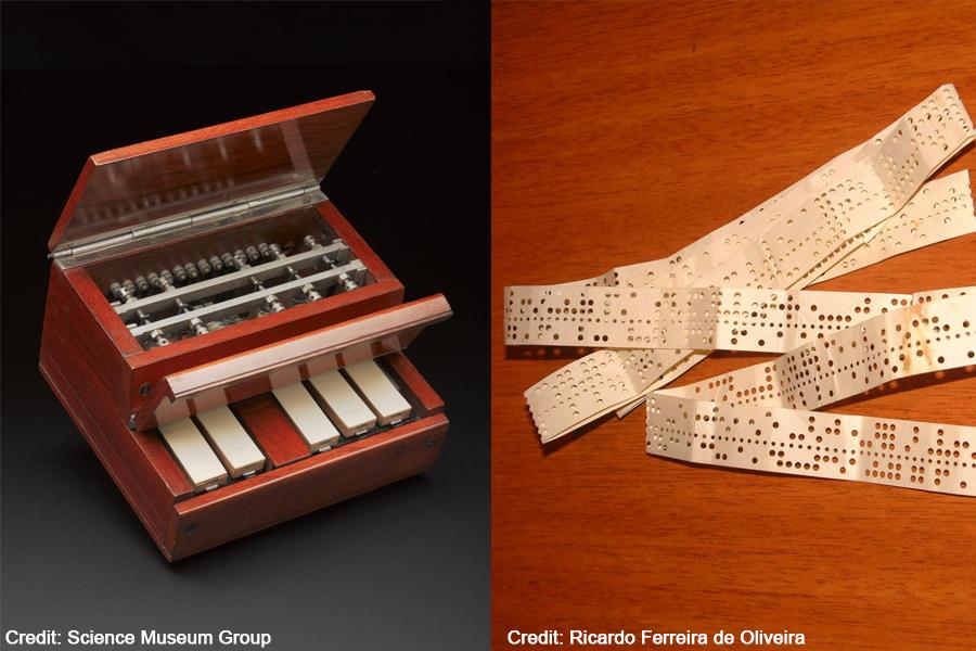 Baudot keyboard and tape