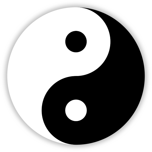 The black and white Yin and Yang symbol