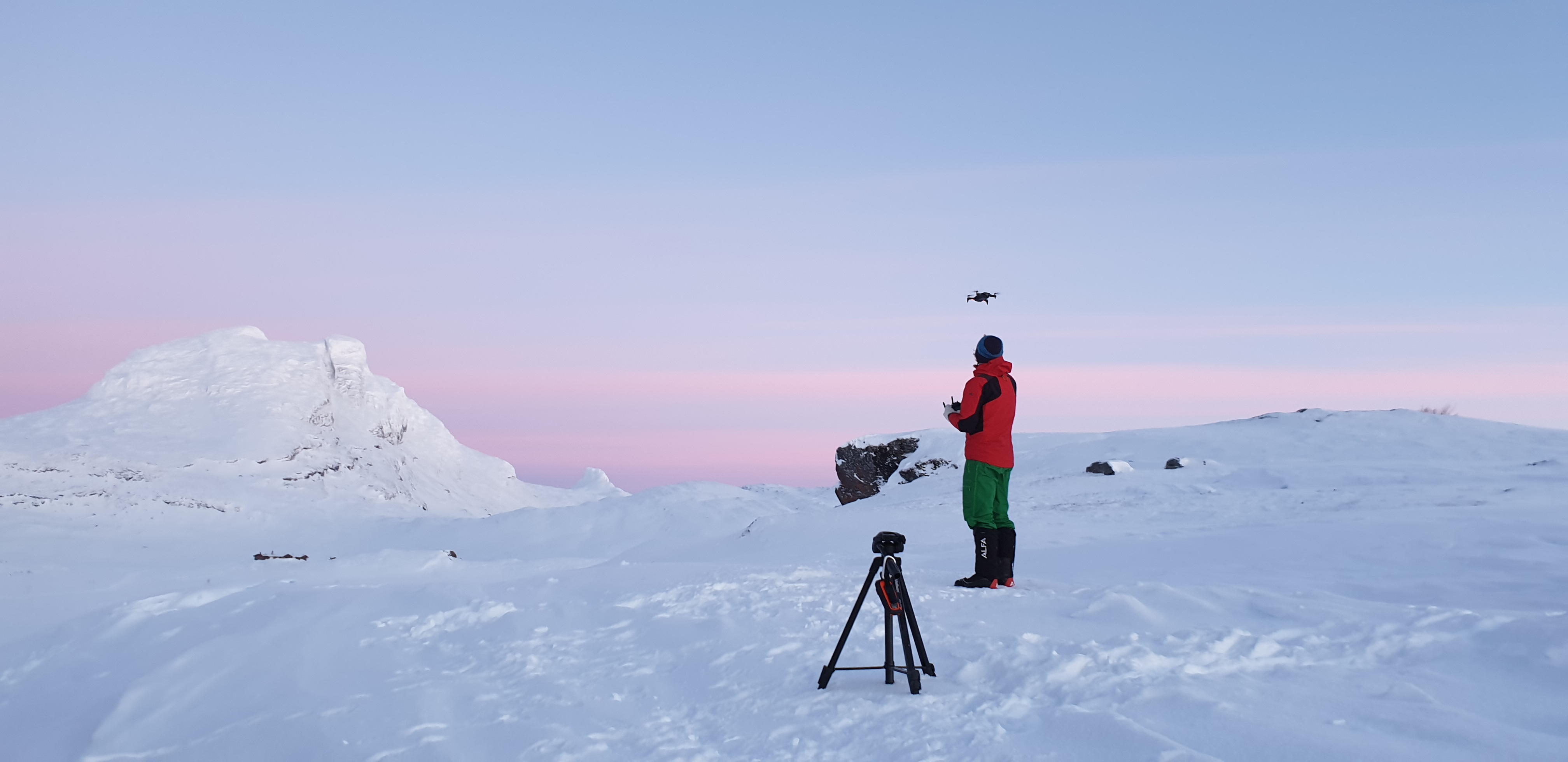 Nord Saulo og drone flygning