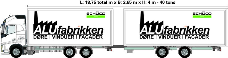 Totalmål på lastbil