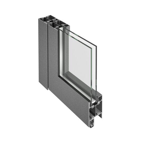Isolert stålprofilserie til dører og faste felt