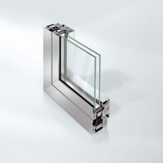 Isolert vindussystem med 70 mm byggedybde